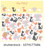 counting game for preschool... | Shutterstock .eps vector #1074177686