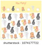 counting game for preschool... | Shutterstock .eps vector #1074177722