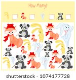 counting game for preschool... | Shutterstock .eps vector #1074177728