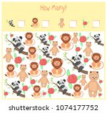counting game for preschool... | Shutterstock .eps vector #1074177752