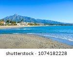 playa de rio verde  marbella ... | Shutterstock . vector #1074182228