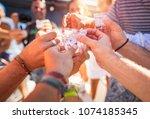 closeup photo of a men hands... | Shutterstock . vector #1074185345