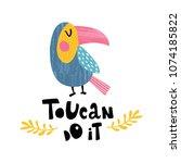 Vector Illustration Of Toucan...