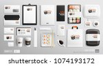brand identity mockup set for... | Shutterstock .eps vector #1074193172