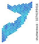 blue hexagon somalia map.... | Shutterstock .eps vector #1074195416