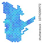 blue hexagon quebec province... | Shutterstock .eps vector #1074200972