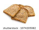 whole wheat bread baked  bio... | Shutterstock . vector #1074205082