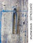 old vintage pliers pincers... | Shutterstock . vector #1074211652