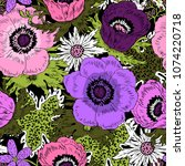 vector seamless pattern with... | Shutterstock .eps vector #1074220718
