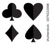 casino gambling theme. set of... | Shutterstock .eps vector #1074222008