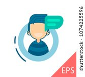 young man avatar character with ... | Shutterstock .eps vector #1074225596