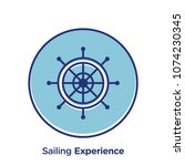 sailing related offset style... | Shutterstock .eps vector #1074230345
