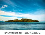 Small Tropical Island In The...