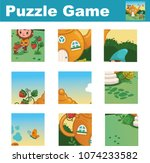 puzzle for children featuring a ... | Shutterstock .eps vector #1074233582