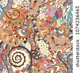 tracery seamless pattern.... | Shutterstock .eps vector #1074236465