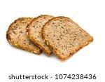 whole wheat bread baked  bio... | Shutterstock . vector #1074238436