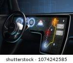 Close Up Of Digital Dashboard...