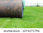 lawn roller rolling out uneven... | Shutterstock . vector #1074271796