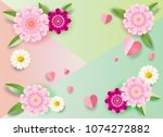 mother's day decoration  vector ... | Shutterstock .eps vector #1074272882