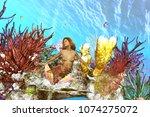 3d illustration of underwater... | Shutterstock . vector #1074275072