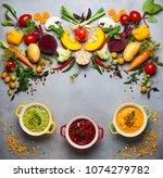 concept of healthy vegetable... | Shutterstock . vector #1074279782