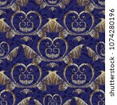 gold 3d baroque seamless... | Shutterstock .eps vector #1074280196