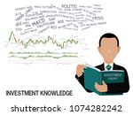 an investor is learning about... | Shutterstock .eps vector #1074282242