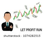 an investor let the stock to...   Shutterstock .eps vector #1074282515