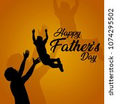 happy fathers day flyer  banner ... | Shutterstock .eps vector #1074295502