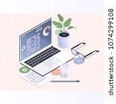 software development and... | Shutterstock .eps vector #1074299108