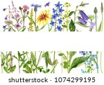 template with watercolor...   Shutterstock . vector #1074299195