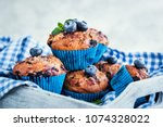 fresh homemade delicious... | Shutterstock . vector #1074328022