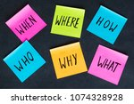 how  why  what  who  where ... | Shutterstock . vector #1074328928