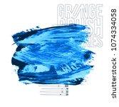 blue brush stroke and texture....   Shutterstock .eps vector #1074334058