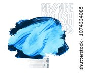 blue brush stroke and texture.... | Shutterstock .eps vector #1074334085