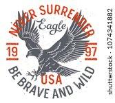 bald eagle t shirt design.... | Shutterstock .eps vector #1074341882