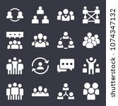 group filled vector icon set on ... | Shutterstock .eps vector #1074347132