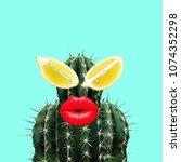 contemporary art collage.... | Shutterstock . vector #1074352298