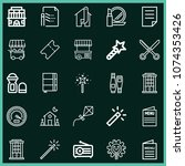 set of 25 other outline icons...   Shutterstock .eps vector #1074353426