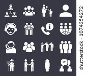 people filled vector icon set... | Shutterstock .eps vector #1074354272