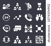 business filled vector icon set ... | Shutterstock .eps vector #1074354902