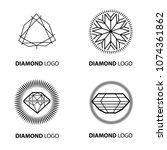 set of neon diamond logos...   Shutterstock . vector #1074361862
