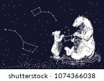 the great bear and the little... | Shutterstock .eps vector #1074366038