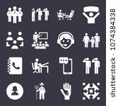 people filled vector icon set... | Shutterstock .eps vector #1074384338