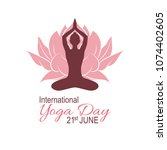 yoga day poster. world yoga day ... | Shutterstock .eps vector #1074402605