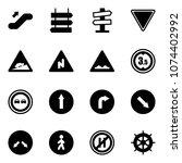 solid vector icon set  ... | Shutterstock .eps vector #1074402992