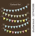 vintage garland collection.... | Shutterstock .eps vector #107440388