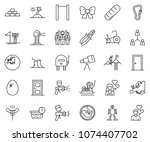 thin line icon set   success... | Shutterstock .eps vector #1074407702