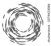 concentric rotating circular... | Shutterstock .eps vector #1074423086