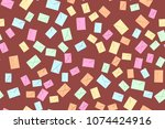 seamless pattern of the... | Shutterstock .eps vector #1074424916